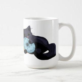 Kitten Eating Donut Mug