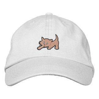 Kitten Embroidery Gift Embroidered Baseball Cap