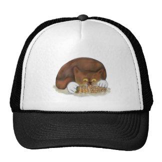 Kitten Enjoys Eating Corn on the Cob Trucker Hat