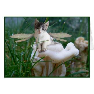 Kitten Fairy Greeting Card