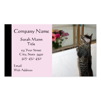 Kitten Finds Flowers Business Cards