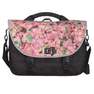 Kitten Flower Collage Laptop Bags