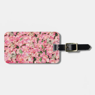 Kitten Flower Collage Luggage Tag