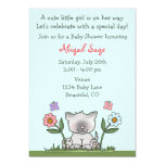 Kitten, Flowers and Butterflies Baby Shower Invite