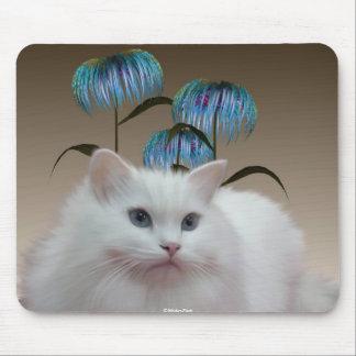 Kitten Flowers Mousepad