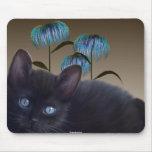 Kitten Flowers Mousepad Mouse Pad