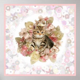Kitten for a little girl print
