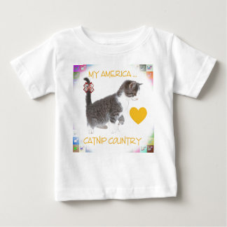Kitten for America Baby T-Shirt