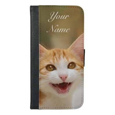 Kitten funny cat meow, Name, Wallet Case