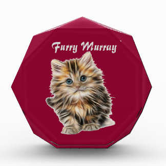 Kitten Furry Murray So Cute and Hairy Acrylic Award