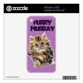 Kitten Furry Murray So Cute and Hairy Decal For The iPhone 4
