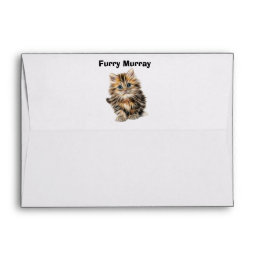 Kitten Furry Murray So Cute and Hairy Envelope