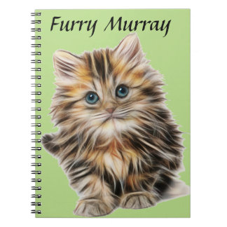 Kitten Furry Murray So Cute and Hairy Notebook