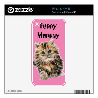 Kitten Furry Murray So Cute and Hairy Skins For iPhone 4S