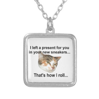 Kitten Gift Silver Plated Necklace