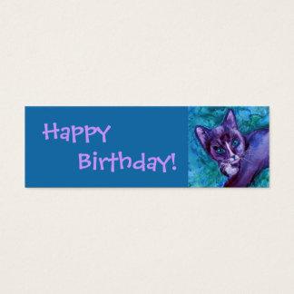 """Kitten Gift Tag - """"Purple Tuxedo"""""""