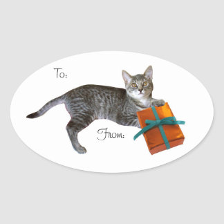 Kitten Gift Tags Stickers