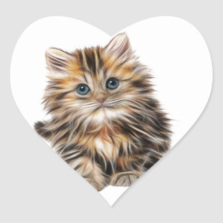 Kitten Gifts Heart Sticker