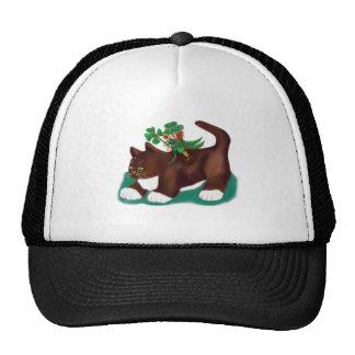 Kitten Gives this Lucky Leprechaun a Ride Trucker Hat