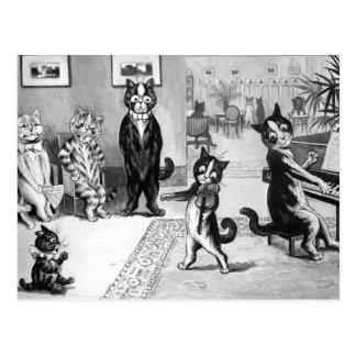Kitten Giving a Recital Postcard