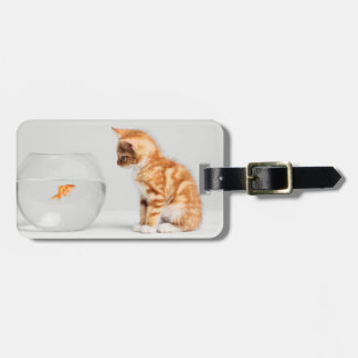 Kitten & Goldfish Luggage Tag