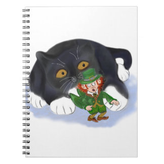 Kitten Grabs at a Leprechaun Notebook