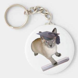 Kitten Graduation Keychain