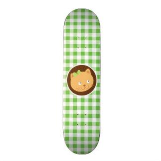 Kitten Green Gingham Skate Boards