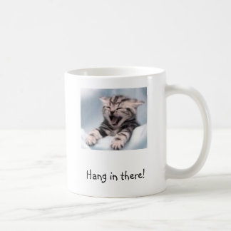 Kitten, Hang in there! Coffee Mugs