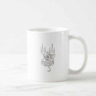 Kitten Hanging Around Coffee Mug