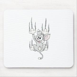 Kitten Hanging Around Mouse Pad