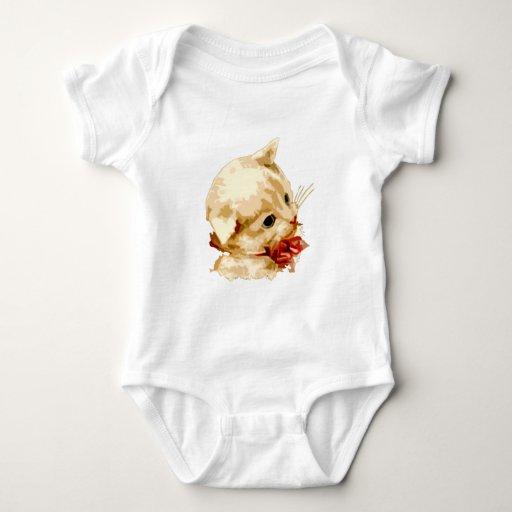 Kitten Head Baby Bodysuit