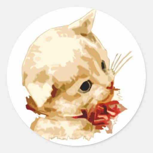 Kitten Head Classic Round Sticker