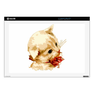 Kitten Head Laptop Skin