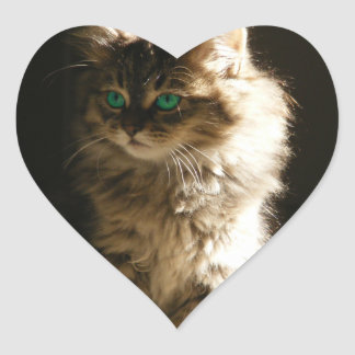 Kitten Heart Stickers