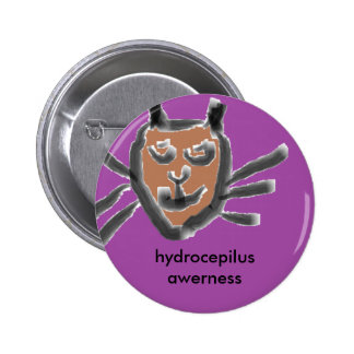 kitten hydrocepilus awerness 2 inch round button