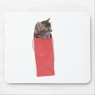 kitten in a bag red mousepads