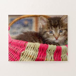 Kitten In A Basket Jigsaw Puzzle