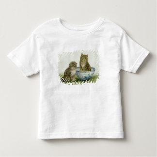 Kitten in a Blue China Bowl Toddler T-shirt