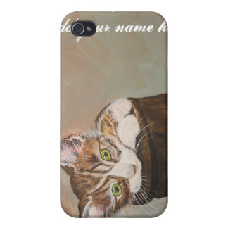 """Kitten in a Boot """"Fur Lining"""" iPhone 4/4S Cover"""