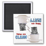 Kitten In A Cup Cat Lovers Dishwasher Magnet