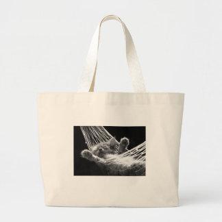 Kitten in a hammock large tote bag