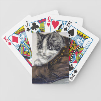 Kitten in a Shoe Bicycle Playing Cards