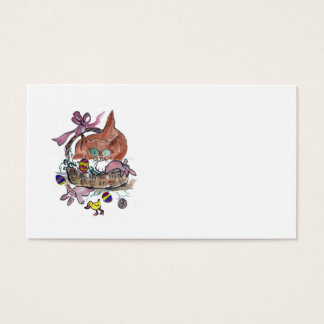 Kitten in an Easter Basket Business Card