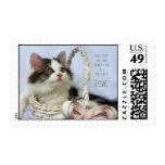 Kitten in Basket (Love) Stamps