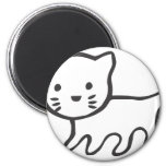 Kitten in Black and White Sketch Refrigerator Magnets