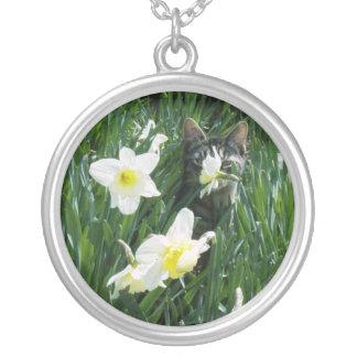 KITTEN IN FLOWERS Necklace