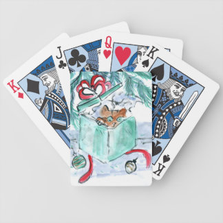 Kitten in Shredded Box, Sumi-e in color Bicycle Playing Cards
