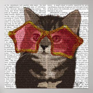 Kitten in Star Sunglasses Poster