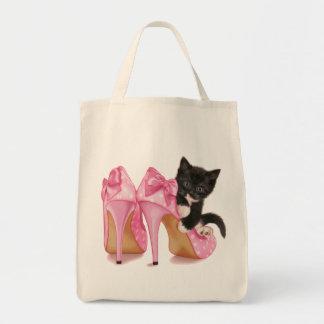 Kitten in Stilettos Canvas Bag